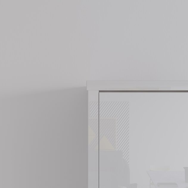 SMARTBett Cama de pared  estándar 140x200 vertical blanco alto brillo / blanco alto brillo frente con resortes de presión de gas